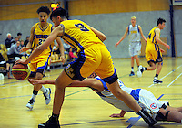 Action from the 2016 Zone 3 AA Secondary Schools basketball premierships boys match between Rongotai College and Tawa College at Arena Manawatu in Palmerston North, New Zealand on Friday, 2 September 2016. Photo: Dave Lintott / lintottphoto.co.nz