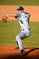 Slippery Rock pitcher Zac Anderson (34) during a game against the Wayne State Warriors on March 15, 2013 at Chain of Lakes Park in Winter Haven, Florida.  (Mike Janes/Four Seam Images)