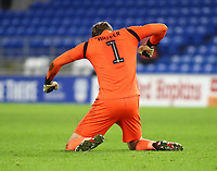 4th February 2020; Cardiff City Stadium, Cardiff, Glamorgan, Wales; English FA Cup Football, Cardiff City versus Reading; Sam Walker of Reading celebrates after Reading equalize to make it 3-3 in the 116th minute