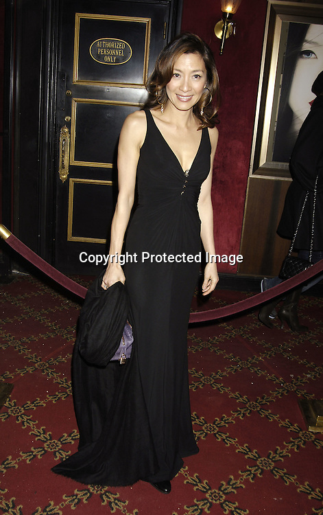 "Actress Michelle Yeoh ..arriving at The New York Premiere of "" Memoirs Of A Geisha""  on December 6. 2005 at The Ziegfeld Theatre...Photo by Robin Platzer, Twin Images.."