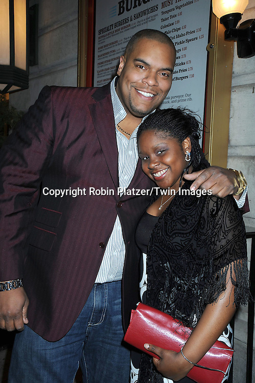 Sean Ringgold and Shenell Edmonds attending the Shenell Edmonds Ice Cream Social at HB Burger on .March 13, 2011 in New York City.