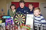 FUNDRAISER: Locals in Ballinskelligs who are organising darts fundraiser for the local community care services, l-r: Ma?ire Bhreathnach, Pa?draig O'Breana?in, Leonie Nic Uili?s, Ben O'Conchu?ir.