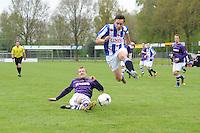 VOETBAL: WOLVEGA: 03-05-2015, FC FC Wolvega - VV Heerenveen, uitslag 0-0, Thom van Lingen (#9), Remco van der Avoird (#5), ©foto Martin de Jong