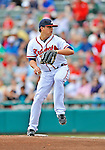 6 March 2012: Atlanta Braves pitcher Kris Medlen in action during a Spring Training game against the Washington Nationals at Champion Park in Disney's Wide World of Sports Complex, Orlando, Florida. The Nationals defeated the Braves 5-2 in Grapefruit League action. Mandatory Credit: Ed Wolfstein Photo