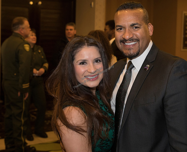 Cristal and Alex Woodley during the 29th Annual Dr. Martin Luther King, Jr. Dinner Celebration at the Atlantis Casino Resort Spa in Reno, Monday night, Jan. 16, 2017.