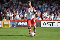 Joel Byrom of Stevenage during Stevenage vs Tranmere Rovers, Sky Bet EFL League 2 Football at the Lamex Stadium on 4th August 2018