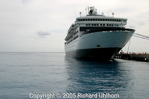The Zenith docked at Costa Maya, Mexico on the Caribbean side...cruising, cruise ship, Zenith, Celebrity Lines, passenger ship, docked, Carribean, Mexico