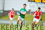 Sean M Ó Conchúir West Kerry in action against Cian Gammell Legion in the Quarter Final of the Kerry Senior County Championship at Austin Stack Park on Sunday.