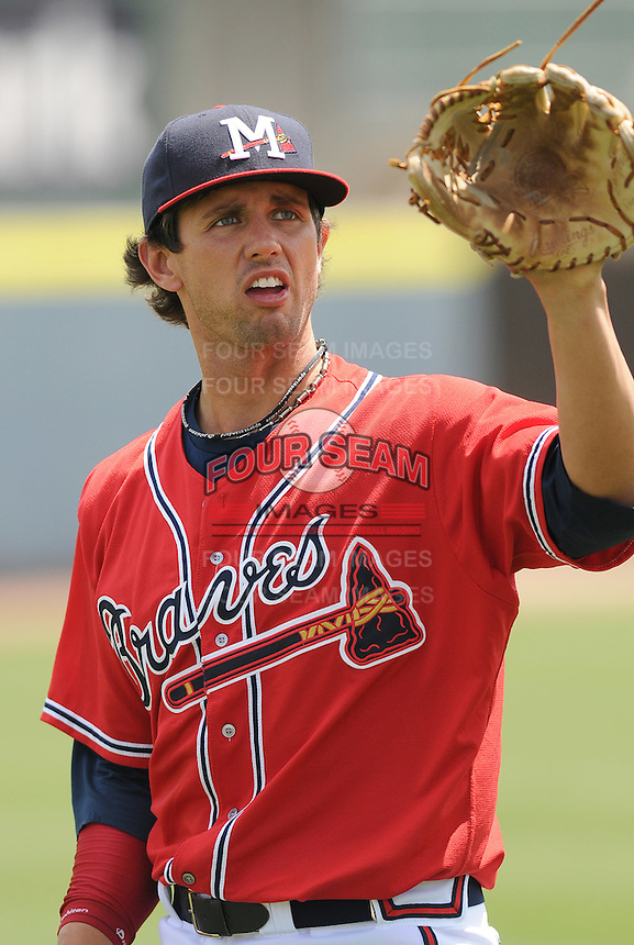 13 April 2008: RHP Dustin Evans (32) of the Mississippi Braves, Class AA affiliate of the Atlanta Braves, in a game against the Mobile BayBears at Trustmark Park in Pearl, Miss. Photo by:  Tom Priddy/Four Seam Images