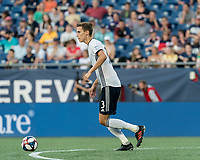 FOXBOROUGH, MA - JUNE 26: Jack Elliott #3 looks to pass during a game between Philadelphia Union and New England Revolution at Gillette Stadium on June 26, 2019 in Foxborough, Massachusetts.