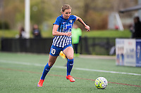 Allston, MA - Sunday, May 1, 2016:  Boston Breakers midfielder Louise Schillgard (10) in a match against the Portland Thorns FC at Harvard University.