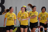 World Floorball Championships 2017 Qualification for Asia Oceania Region - New Zealand v Malaysia at ASB Sports Centre , Wellington, New Zealand on Saturday 4 February 2017.<br /> Photo by Masanori Udagawa<br /> www.photowellington.photoshelter.com.