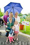 l-r  Sadie Lynch, Emma Lynch, Jack Lynch, David Sharpe, Jane Lynch and Mary Sharpe at the Feile na Blath   in the Town park on Saturday