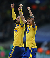 Paulo Dybala of Juventus celebrates scoring his side's second goal <br /> <br /> Photographer Rob Newell/CameraSport<br /> <br /> UEFA Champions League Round of 16 Second Leg - Tottenham Hotspur v Juventus - Wednesday 7th March 2018 - Wembley Stadium - London <br />  <br /> World Copyright &copy; 2017 CameraSport. All rights reserved. 43 Linden Ave. Countesthorpe. Leicester. England. LE8 5PG - Tel: +44 (0) 116 277 4147 - admin@camerasport.com - www.camerasport.com