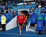 Billy Sharp of Sheffield Utd leads out the players for warm up during the Championship match at the Hillsborough Stadium, Sheffield. Picture date 24th September 2017. Picture credit should read: Simon Bellis/Sportimage