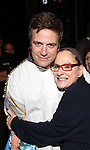 Manoel Felciano and Patti Lupone during the Actors' Equity Gypsy Robe honoring Joanna Glushak for 'War Paint' at the Nederlander Theatre on April 6, 2017 in New York City
