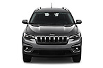 Car photography straight front view of a 2019 Jeep Cherokee Latitude Plus 4X4 5 Door SUV
