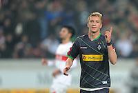 FUSSBALL   1. BUNDESLIGA  SAISON 2011/2012   19. Spieltag   29.01.2012 VfB Stuttgart - Borussia Moenchengladbach    JUBEL Borussia Moenchengladbach; Torschuetze zum 0-2 Marco Reus