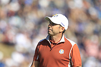 Sergio Garcia (Team Europe) on the 9th green during Saturday Foursomes at the Ryder Cup, Le Golf National, Ile-de-France, France. 29/09/2018.<br /> Picture Thos Caffrey / Golffile.ie<br /> <br /> All photo usage must carry mandatory copyright credit (&copy; Golffile | Thos Caffrey)