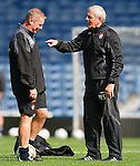 Walter Smith makes his point to Ally McCoist