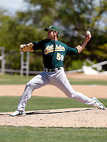 Lance Sewell - Oakland Athletics - 2009 spring training.Photo by:  Bill Mitchell/Four Seam Images