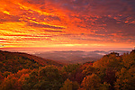 Sunrise over the proposed Grandfather National Scenic Area, Blue Ridge Parkway, North Carolina
