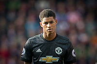 Marcus Rashford of Man Utd during the Premier League match between Stoke City and Manchester United at the Britannia Stadium, Stoke-on-Trent, England on 9 September 2017. Photo by Andy Rowland.