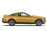 Passenger side profile view of a 2010 Ford Mustang Coupe GT Premium.