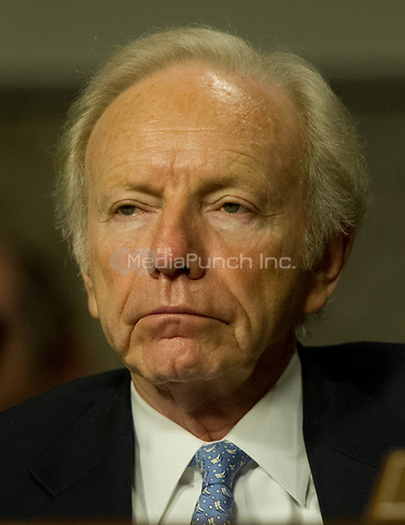 United States Senator Joseph Lieberman (Independent Democrat of Connecticut), listens as General John R. Allen, USMC, Commander, International Security Assistance Force and Commander, United States Forces Afghanistan, testifies on the situation in Afghanistan before the U.S. Senate Armed Services Committee on Capitol Hill in Washington, D.C. on Thursday, March 22, 2012..Credit: Ron Sachs / CNP/MediaPunch