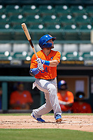 St. Lucie Mets Blake Tiberi (24) at bat during a Florida State League game against the Bradenton Marauders on July 28, 2019 at LECOM Park in Bradenton, Florida.  Bradenton defeated St. Lucie 7-3.  (Mike Janes/Four Seam Images)