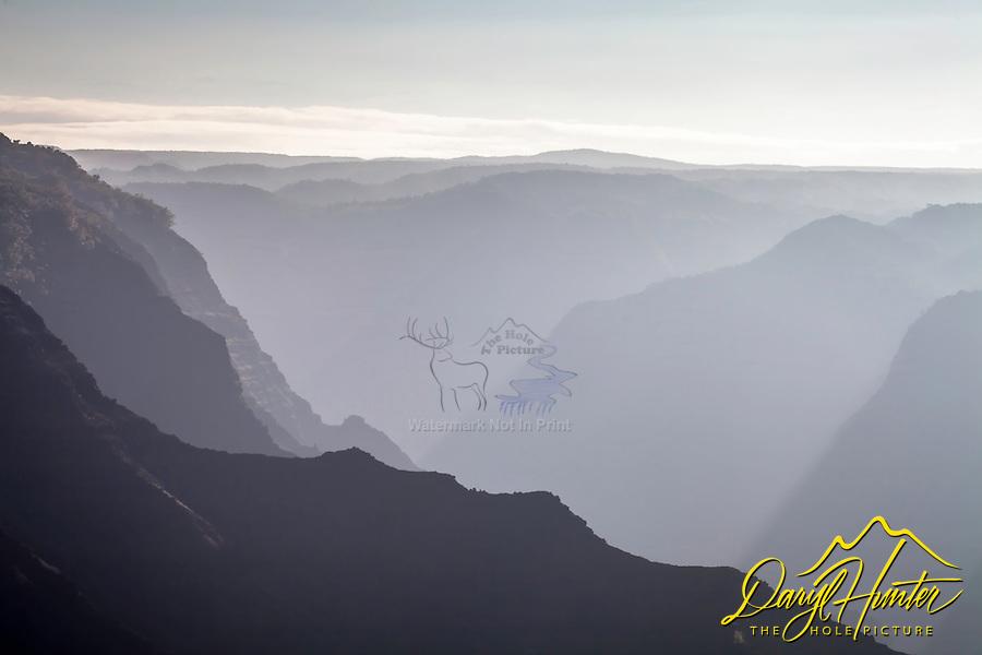 Morning haze, Waimea Canyon, the Grand Canyon of the Pacific.