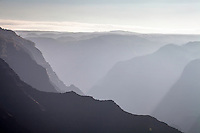 Morning haze, Waimea Canyon, the Grand Canyon of the Pacific.