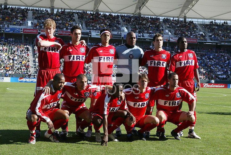 Chicago Fire team photo before the game at Home Depot Center in Carson, California on November 22nd, 2003.   Earthquakes defeated Fire 4-2 for the MLS Cup.