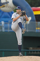 Wilmington Blue Rocks pitcher Cody Reed (32) during a game against the Myrtle Beach Pelicans at Ticketreturn.com Field at Pelicans Ballpark on April 10, 2015 in Myrtle Beach, South Carolina. Wilmington  defeated Myrtle Beach 8-3. (Robert Gurganus/Four Seam Images)