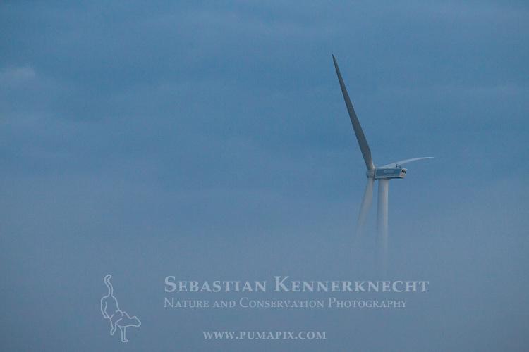 Windmill in fog, Gloucester, Cape Ann, eastern Massachusetts