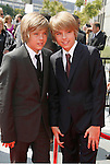 LOS ANGELES, CA. - September 13: Actors Cole Sprouse and Dylan Sprouse arrive at the 60th Primetime Creative Arts Emmy Awards held at Nokia Theatre on September 13, 2008 in Los Angeles, California.