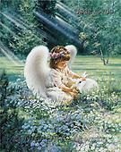 Dona Gelsinger, CHILDREN, paintings(USGE9709,#K#) Kinder, niños, illustrations, pinturas angels, ,everyday