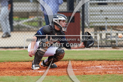 Andrew Stucky (5) of Tucson, Arizona during the Baseball Factory All-America Pre-Season Rookie Tournament, powered by Under Armour, on January 13, 2018 at Lake Myrtle Sports Complex in Auburndale, Florida.  (Michael Johnson/Four Seam Images)