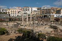 Pozzuoli, 19 Giugno, 2017. I resti di costruzioni dell'epoca romana a Pozzuoli. L'intera area &egrave; considerata dagli esperti come una delle pi&ugrave; pericolose per quanto riguarda la possibile eruzione del vulcano sottostante.<br /> Antonello Nusca/Buenavista photo
