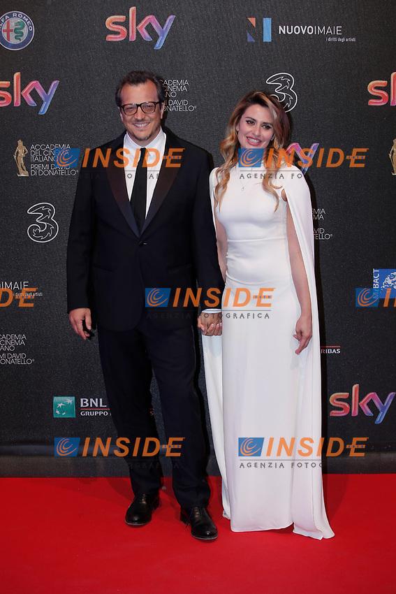 Gabriele Muccino and Angelica Russo<br /> Roma 27-03-2017. Premio David di Donatello 2017.<br /> Rome March 27th 2017. David di Donatello ceremony 2017. <br /> Foto Samantha Zucchi Insidefoto