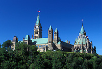 Ottawa, Ontario, Canada, Parliament Buildings on Parliament Hill.