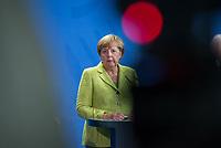 Gemeinsame Presseunterrichtung nach dem Gespraech von Bundeskanzlerin Merkel mit dem Hohen Fluechtlingskommissar der Vereinten Nationen (UNHCR), Filippo Grandi, und dem Generaldirektor der Internationalen Organisation fuer Migration (IOM), William Lacy Swing am Freitag den 11. August 2017 im Bundeskanzleramt.<br /> 11.8.2017, Berlin<br /> Copyright: Christian-Ditsch.de<br /> [Inhaltsveraendernde Manipulation des Fotos nur nach ausdruecklicher Genehmigung des Fotografen. Vereinbarungen ueber Abtretung von Persoenlichkeitsrechten/Model Release der abgebildeten Person/Personen liegen nicht vor. NO MODEL RELEASE! Nur fuer Redaktionelle Zwecke. Don't publish without copyright Christian-Ditsch.de, Veroeffentlichung nur mit Fotografennennung, sowie gegen Honorar, MwSt. und Beleg. Konto: I N G - D i B a, IBAN DE58500105175400192269, BIC INGDDEFFXXX, Kontakt: post@christian-ditsch.de<br /> Bei der Bearbeitung der Dateiinformationen darf die Urheberkennzeichnung in den EXIF- und  IPTC-Daten nicht entfernt werden, diese sind in digitalen Medien nach §95c UrhG rechtlich geschuetzt. Der Urhebervermerk wird gemaess §13 UrhG verlangt.]