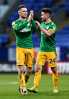 Preston North End's Alan Browne and Sean Maguire applaud the fans at the end of the match <br /> <br /> Photographer Andrew Kearns/CameraSport<br /> <br /> The EFL Sky Bet Championship - Bolton Wanderers v Preston North End - Saturday 9th February 2019 - University of Bolton Stadium - Bolton<br /> <br /> World Copyright © 2019 CameraSport. All rights reserved. 43 Linden Ave. Countesthorpe. Leicester. England. LE8 5PG - Tel: +44 (0) 116 277 4147 - admin@camerasport.com - www.camerasport.com