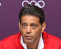 Hampden Park, Glasgow match venue for Football at London 2012...Hany Ramzy, Coach Egyptian Mens Football Team at the Press Conference.............