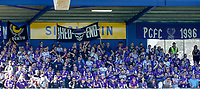 3rd November 2019; HBF Park, Perth, Western Australia, Australia; A League Football, Perth Glory versus Central Coast Mariners; Perth Glory fans in the shed cheer for their team - Editorial Use