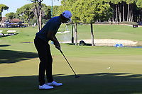 Joakim Lagergren (SWE) putts on the 17th green during Friday's Round 2 of the 2018 Turkish Airlines Open hosted by Regnum Carya Golf &amp; Spa Resort, Antalya, Turkey. 2nd November 2018.<br /> Picture: Eoin Clarke | Golffile<br /> <br /> <br /> All photos usage must carry mandatory copyright credit (&copy; Golffile | Eoin Clarke)
