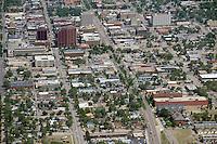 Aerial of downtown Colorado Springs, looking north. July 16, 2012