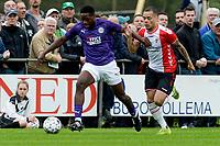 ROLDE - Voetbal, FC Groningen - FC Emmen, voorbereiding seizoen 2019-2020, 16-07-2019,  FC Groningen speler Deyovaisio Zeefuik met FC Emmen speler Henk Bos