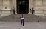 Guards at the presidential palace. Lima, Peru