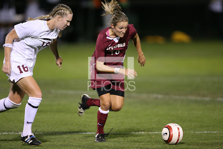 28 October 2005: April Wall during Stanford's 1-0 loss to USC at Maloney Field in Stanford, CA.
